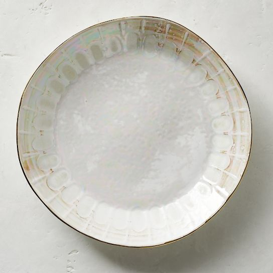 Donatella Mother of Pearl Dinner Plates Set of Four & Donatella Mother of Pearl Dinner Plates Set of Four | Coastal ...