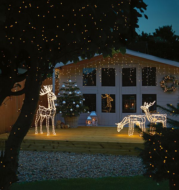 Reindeer silhouette lights are a fun and festive way to decorate the outside  of your home this Christmas. These reindeer lights from Homebase have  simple ... - Reindeer Silhouette Lights Are A Fun And Festive Way To Decorate The
