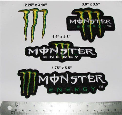 x Monster Energy Motocross Racing Embroidered Iron on Patch   It\'s ...