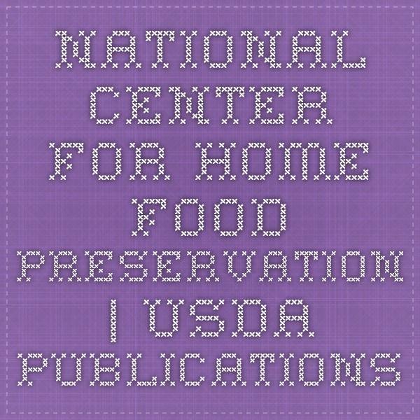 National Center for Home Food Preservation | USDA Publications