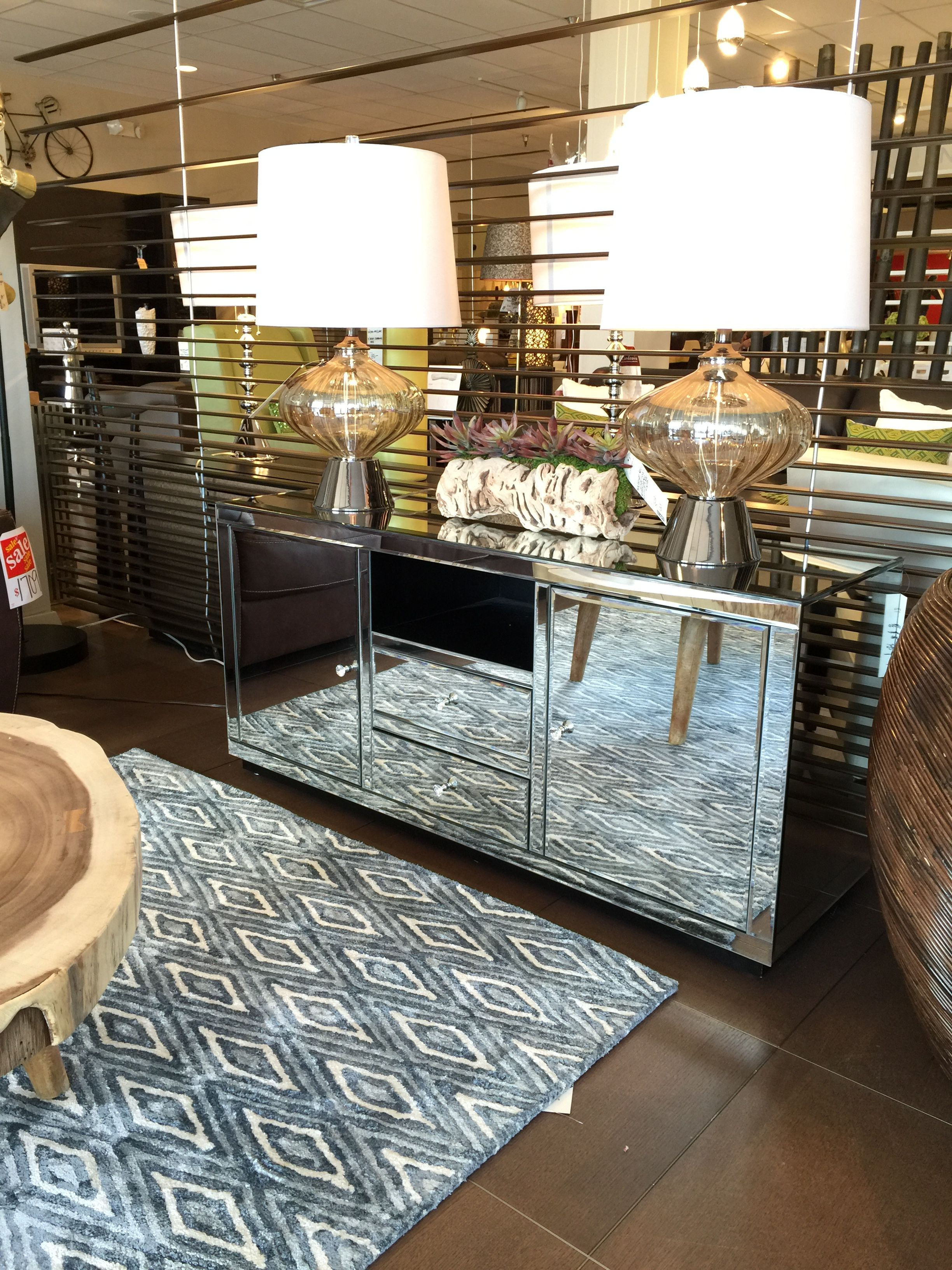 Scandinavia Furniture Inc Metairie New Orleans Louisiana Contemporary Mirrired Tv Cabinet Stylecraft Sf24590