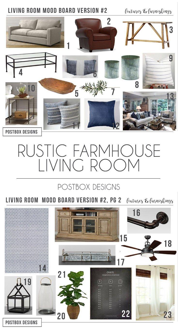 Postbox Designs Interior E Design Rustic Farmhouse Living Room Makeover Online
