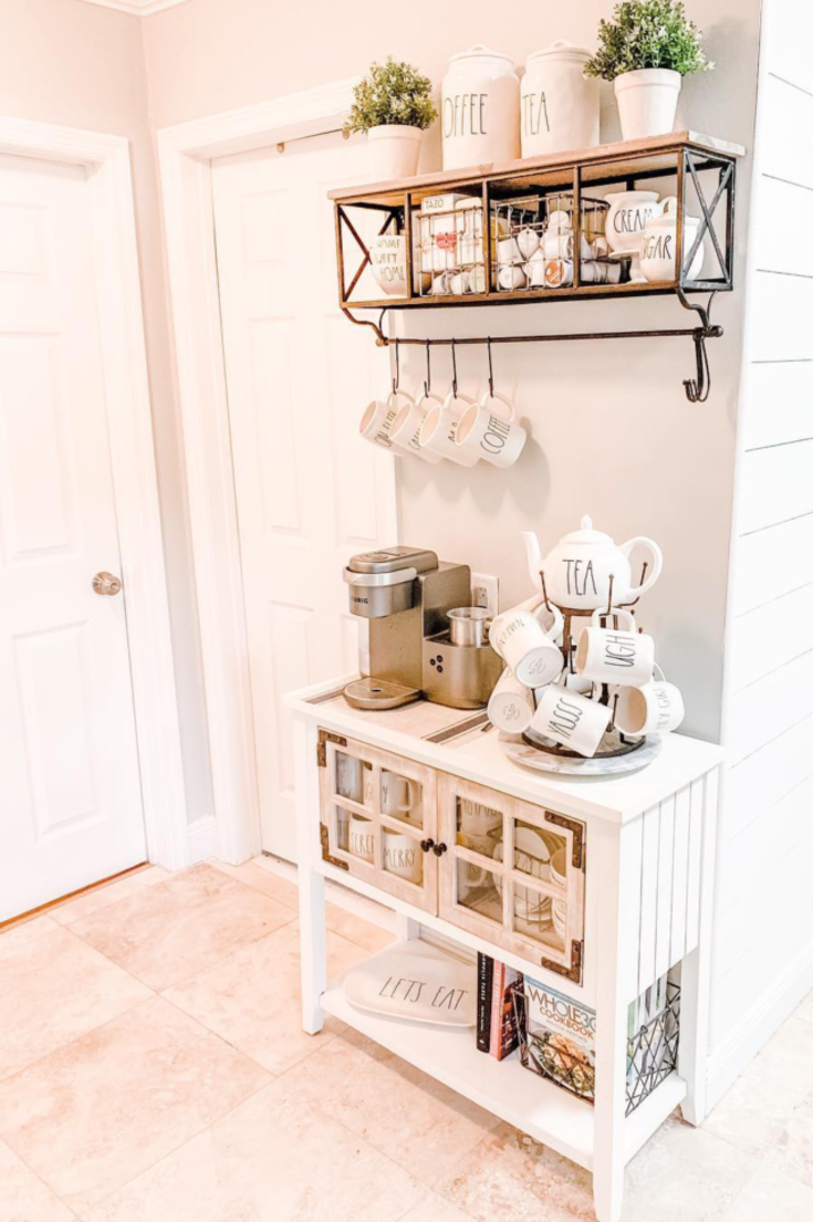 You'll Love These Coffee Bar Ideas For the Home 2020 - SwankyDen.com #coffeebarideas