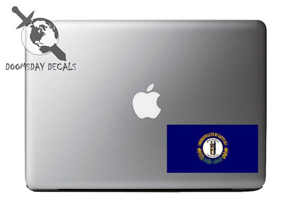 Kentucky Pride State Flag Full Color 5 Inch by DOOMSDAYDECALS