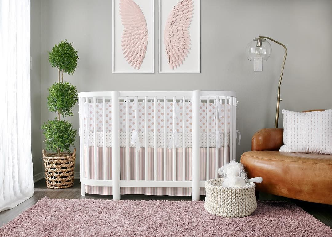 Rose Gold Nursery Designed By Natti Lublini Shown In Our