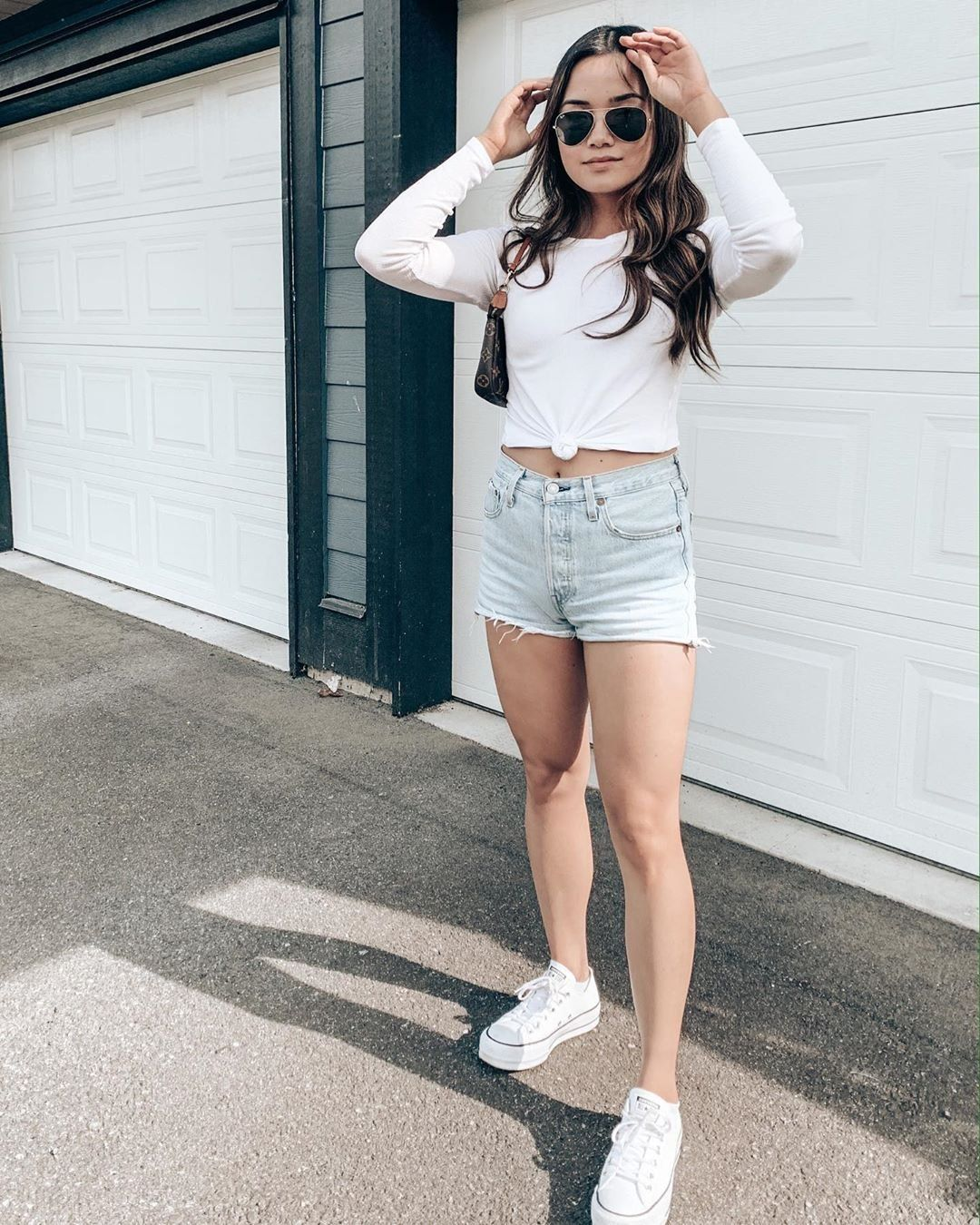white all stars outfit