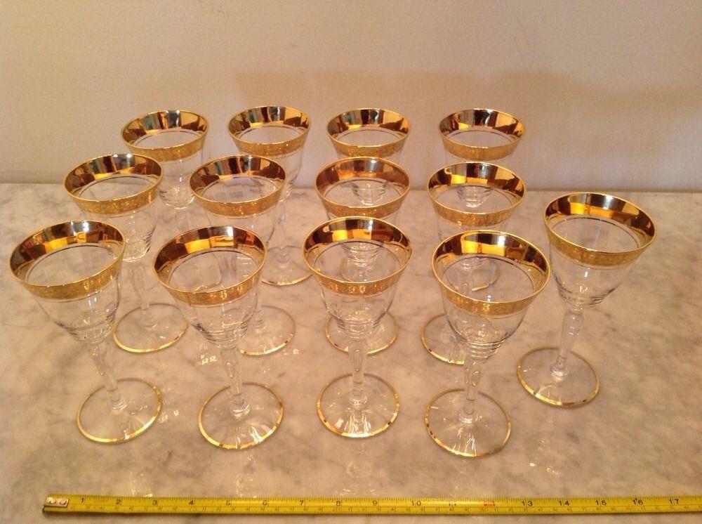 14 Vintage Tiffin Claret Wine Gl