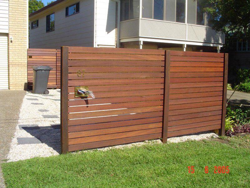 Neat slat/post transition Backyard fences, Fence design