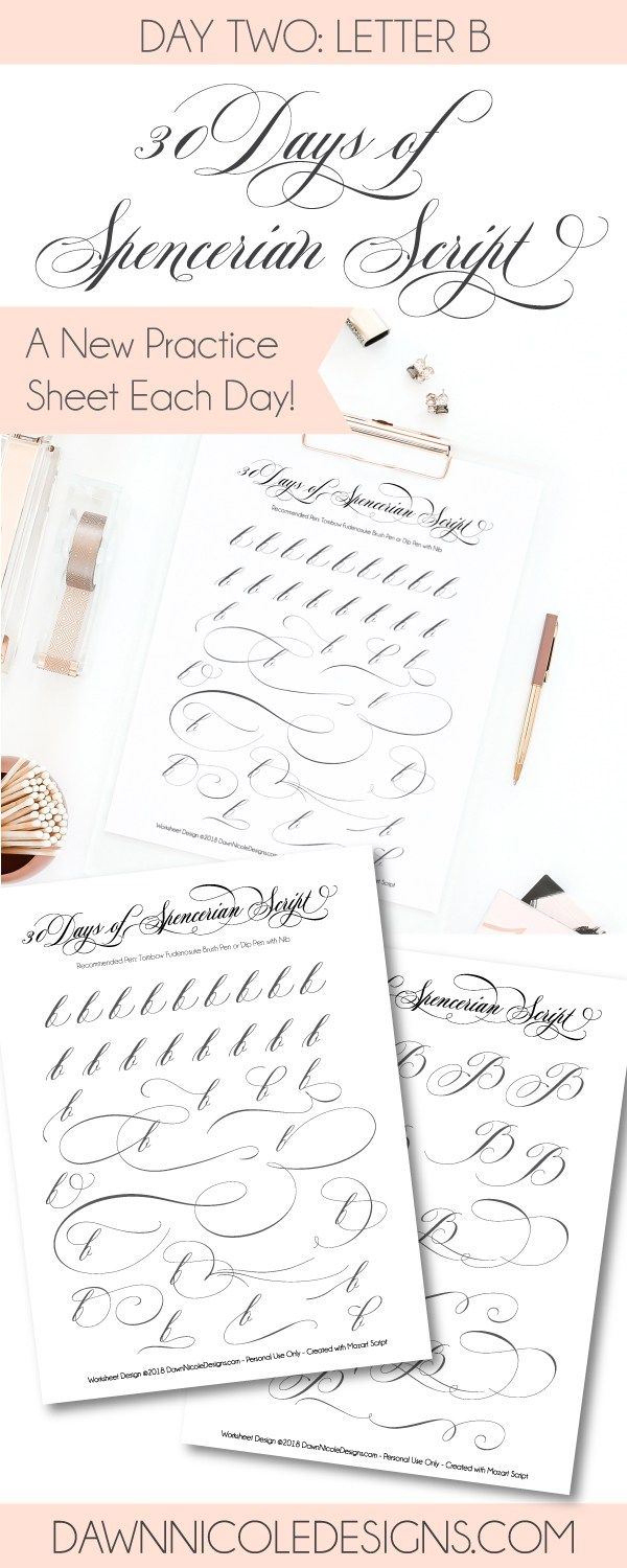 worksheet Spencerian Penmanship Worksheets spencerian script style letter b worksheets calligraphy and dawn nicole