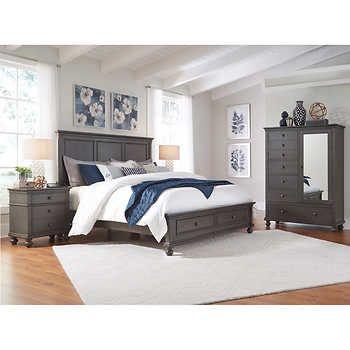 Corona 4 Piece King Storage Bedroom Set Home Ideas In 2018