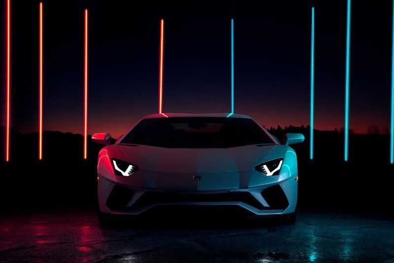 Lamborghini Aventador S In Night Lights With Images Automotive