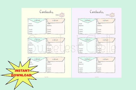 picture regarding Cute Printable Address Book named Adorable Printable A5 Site (2 shades) - Printable Speak to Checklist