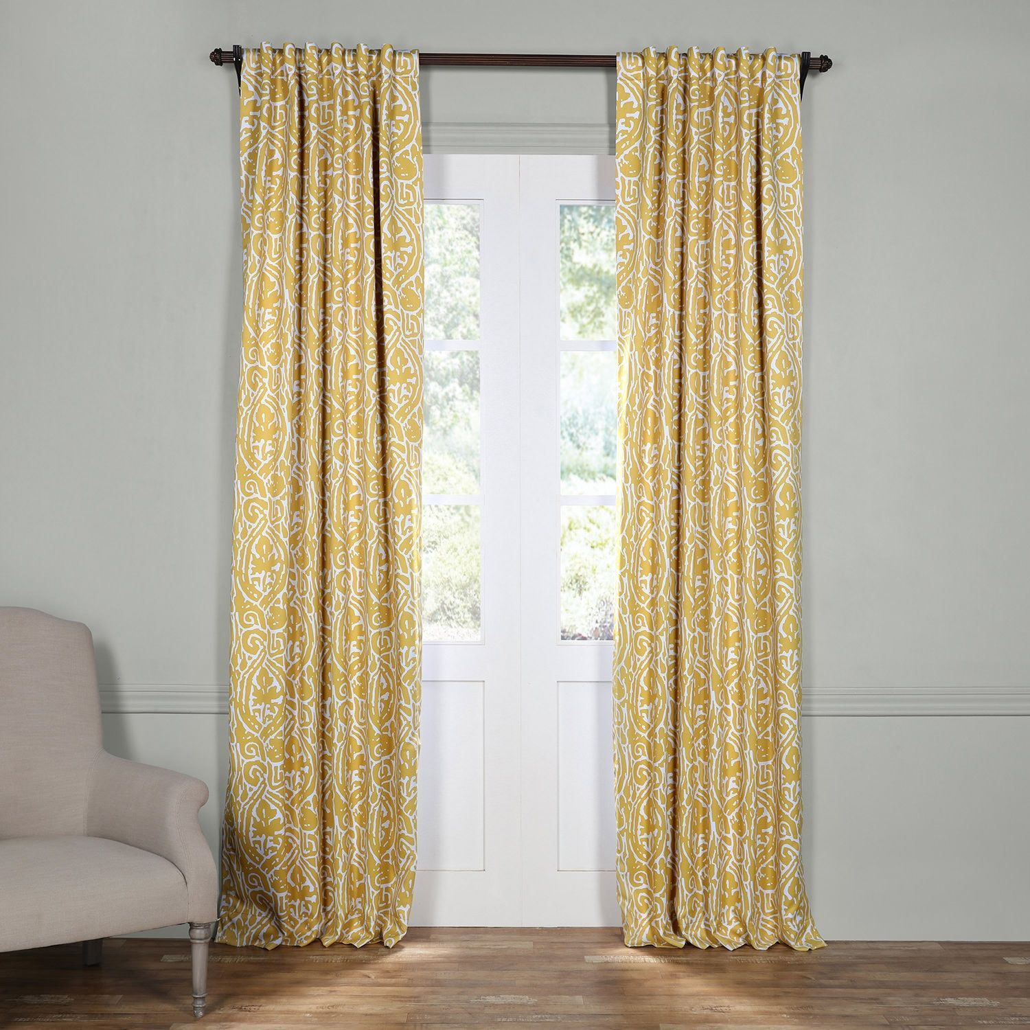 Bed bath and beyond window shades  exclusive fabrics yellow and grey inch wide abstract blackout