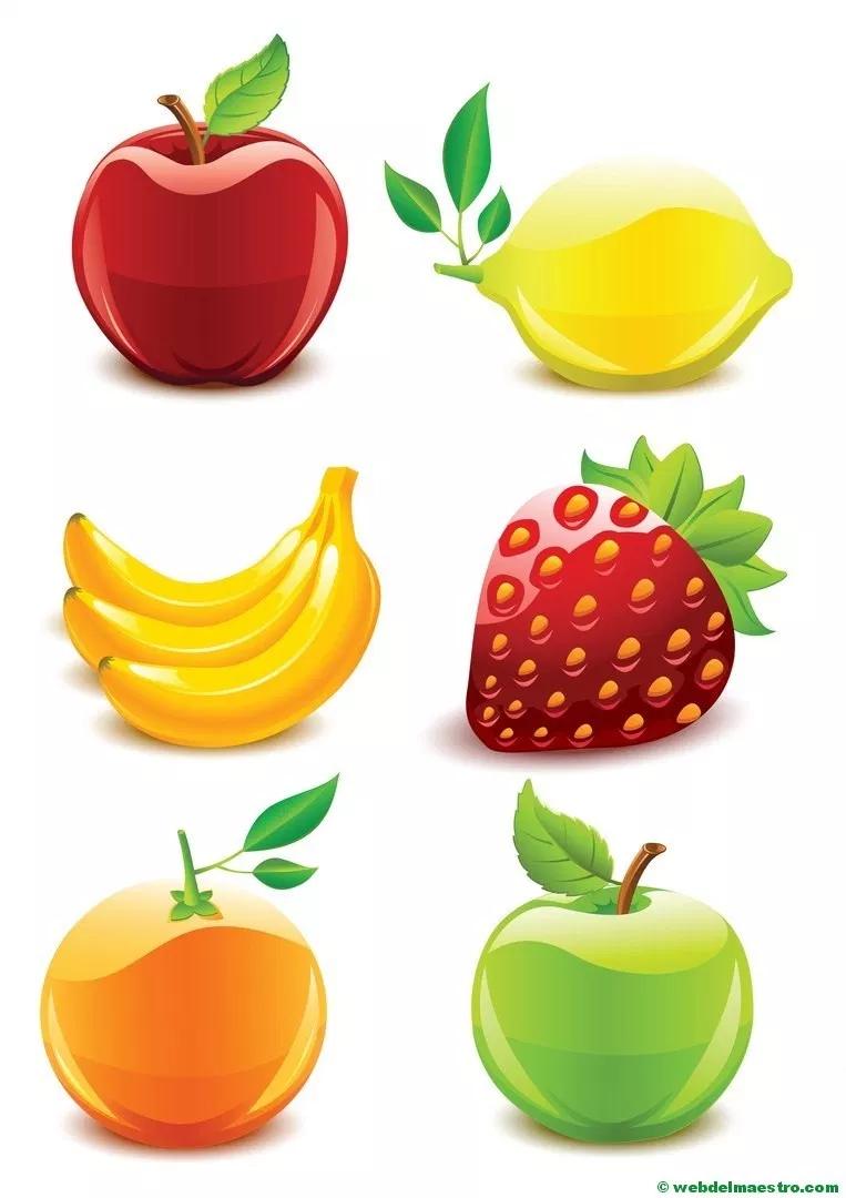 Dibujos De Frutas Y Verduras Web Del Maestro Dibujos De Frutas Frutas Y Verduras Frutas