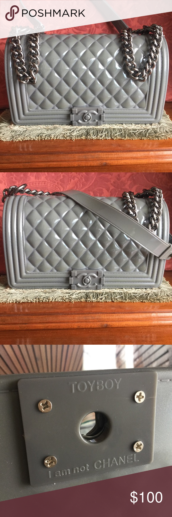 3651b8ec1e16 Jelly Toyboy I am not Chanel Bag Up for sale is my Jelly Toyboy I am not  Chanel handbag which can be used as a cross body or a handbag with chain ...