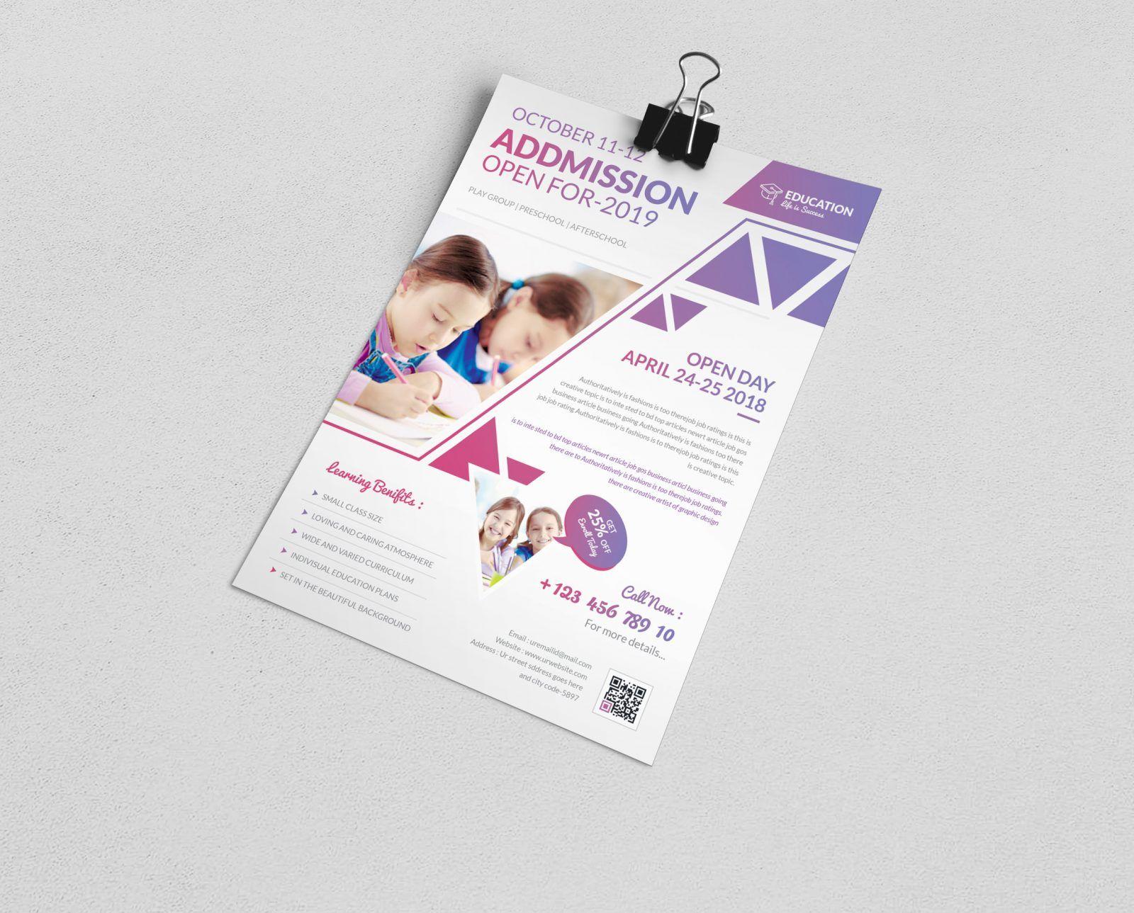 elegant premium education flyer template 001079 waitress career objective sample resume for bsba graduate informatica developer