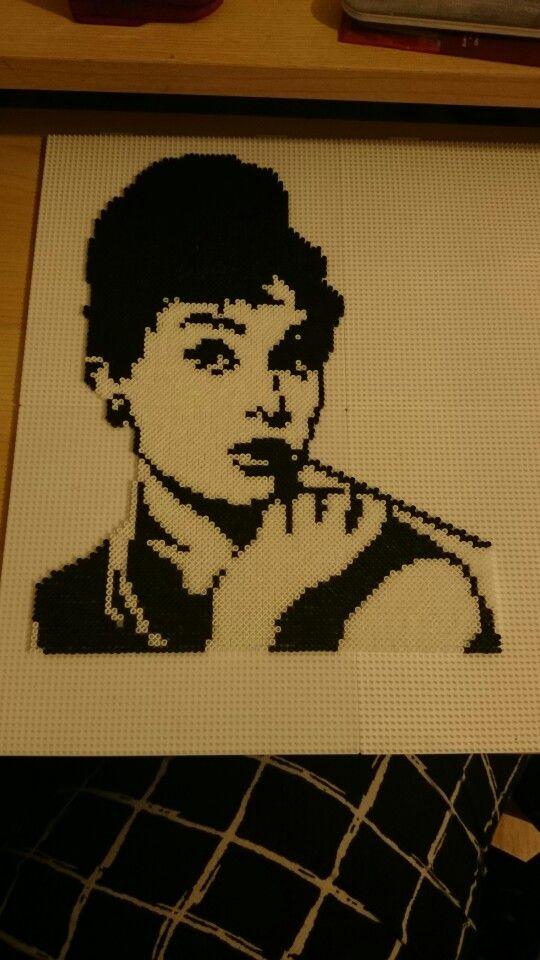 Mini hama beads Audrey Hepburn