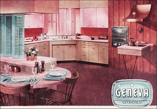 1955 Geneva Cabinets Diner Decor Vintage Kitchen Mid Century Modern Kitchen