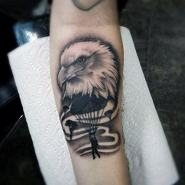 30 Airborne Tattoos For Men Military Ink Design Ideas Airborne Tattoos Tattoo Designs Men Tattoos For Guys