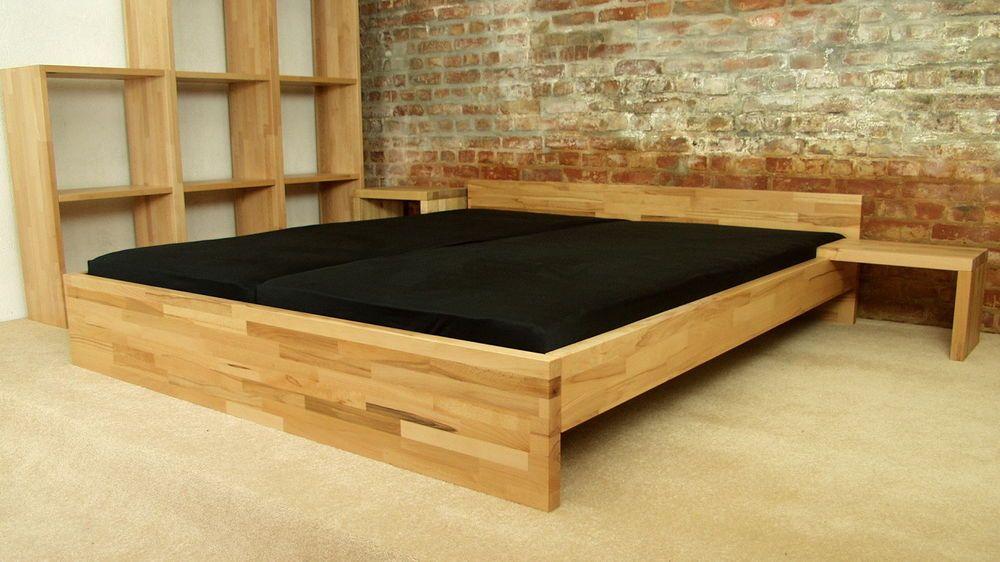 40mm kernbuche 200 x 200 200x190 200x210 200x220 cm massiv holz bett betten einrichtung. Black Bedroom Furniture Sets. Home Design Ideas