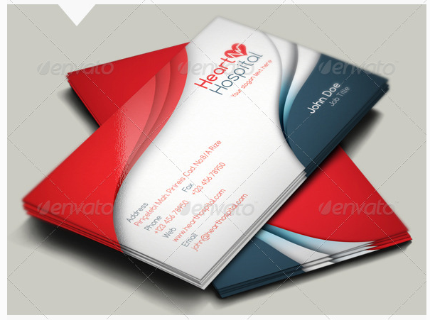 Designs Of Medical Business Cards For Doctors  Designs Of