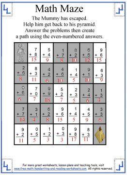 Math Maze Answers 3 Math Maze Math Maze