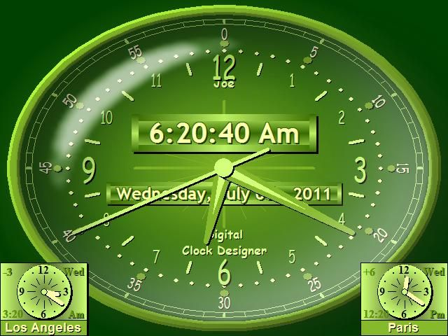 Download Live Clock Wallpaper Desktop Free Download