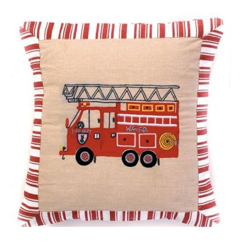 Firehouse Pillow Pillows, Kids bedding sets, Fireman nursery
