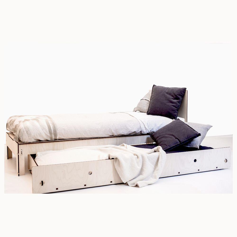 Letto singolo con cassettone, da utilizzare come letto estraibile ...