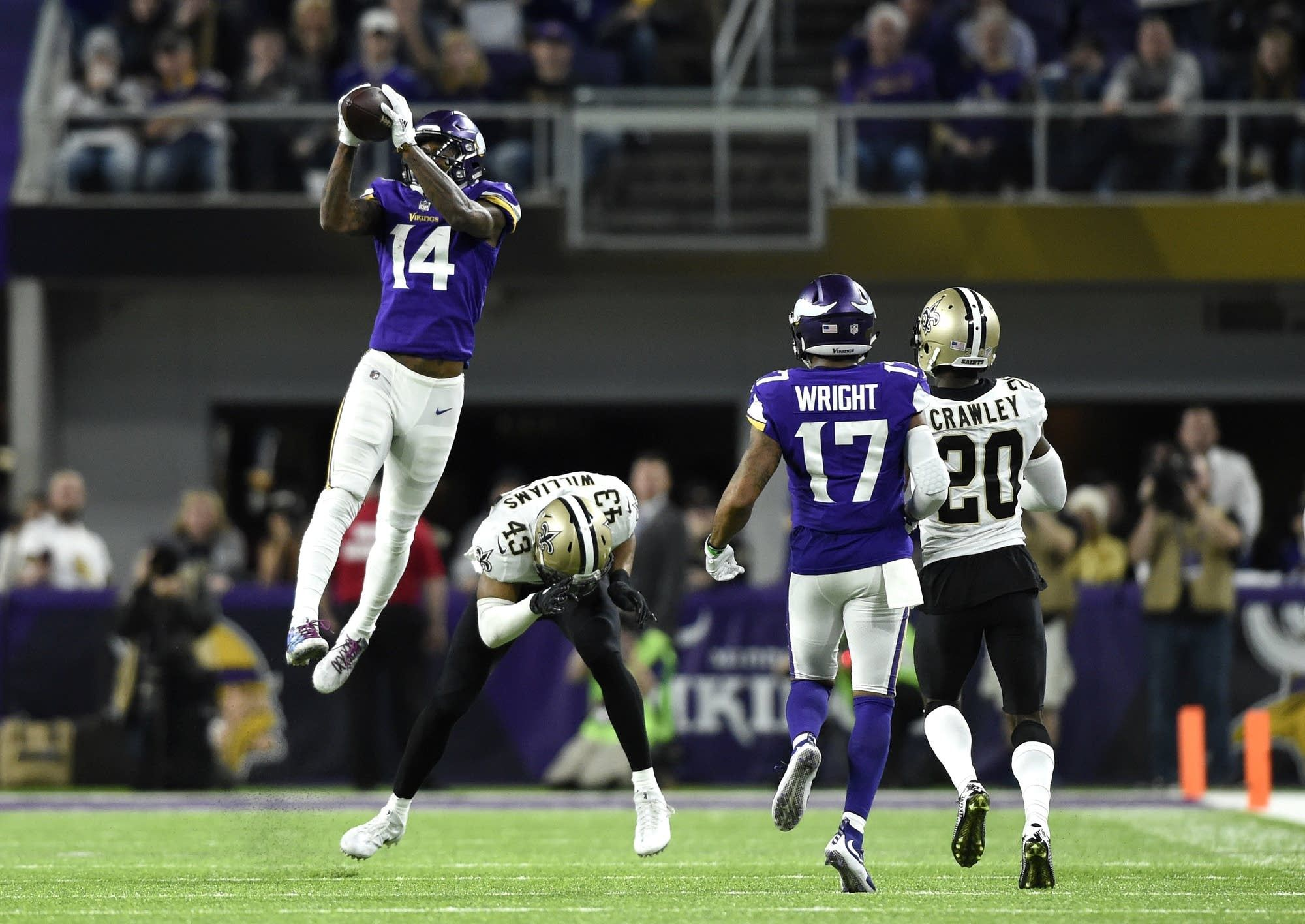 Stefon Diggs and the Vikings set Twitter on fire Sunday night with their last play stunner against the Saints e of the most popular memes in Minnesota