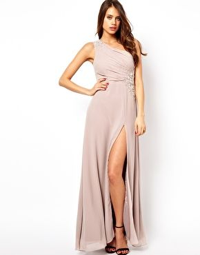 7f36195b Lipsy VIP One Shoulder Maxi Dress with Jewels | Dresses | Dresses ...