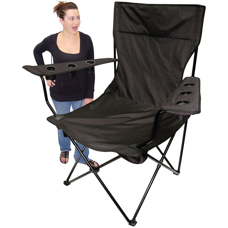 Kingpin Giant Tailgating Chair, Black: **With an enormous ...