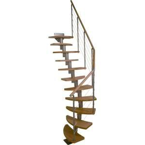 Best Dolle Rome 25 In Modular 12 Tread Stair Kit 68300 1 640 x 480