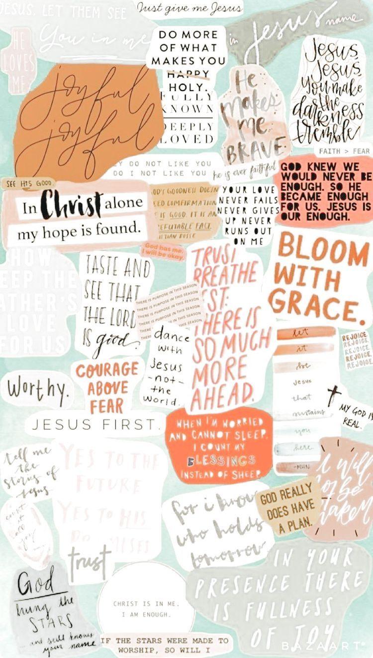 Christian Collage Poster Kelas Kutipan Kristen Kerohanian