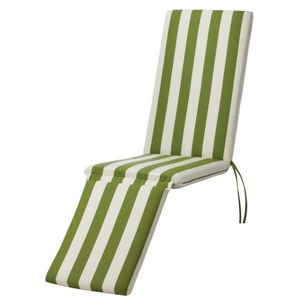 Home Decorators Collection Maxim Cilantro Sunbrella Bull-Nose Outdoor Steamer Chair Cushion