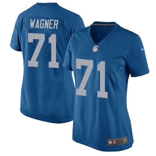 Women s Nike Detroit Lions  71 Ricky Wagner Game Blue Alternate NFL Jersey 937ce2ac89