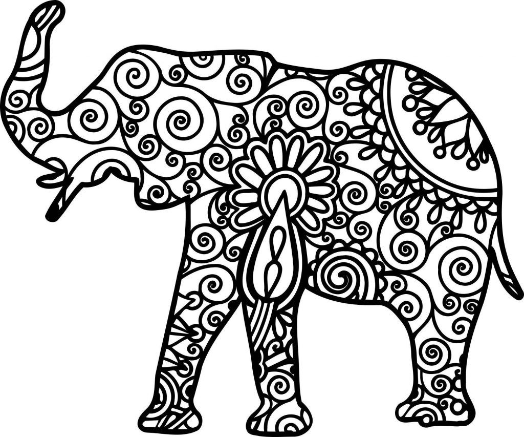 Elephant Coloring Pages For Adults Best Coloring Pages For Kids Elephant Coloring Page Mandala Coloring Pages Mandala Elephant