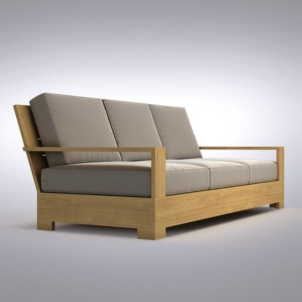 Outdoor Sofa Like The Arms Not The Color Of The Wood Sofa