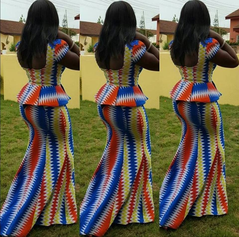Ankara Styles For Las Peplum Blouse And Fish Tail Skirt
