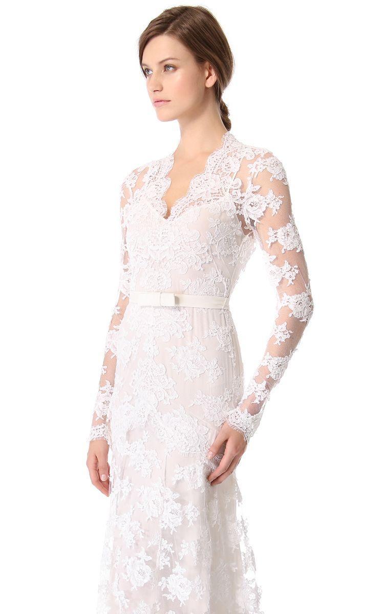 Unique long sleeves long lowv sheath lace dress lace dress lace