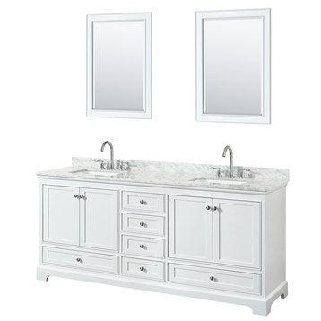Art Exhibition Sheffield inch Double Sink Bathroom Vanity White Finish Set