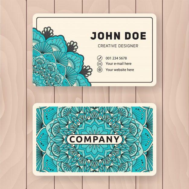 Cration Dune Carte Graphique Utile Design Color Vintage Mandala Pour Personnelle De Visite Ou Tiquette Vecteur Gratuit