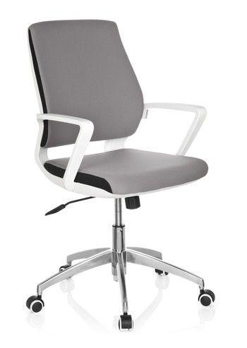 Bürostuhl weiß grau  Bürostuhl / Drehstuhl ESTRA grau Gestell weiß hjh OFFICE   Deko ...