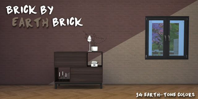Sims 4 CC's - The Best: Brick by Earth Brick Wallpaper by ThePlumbobArchit...