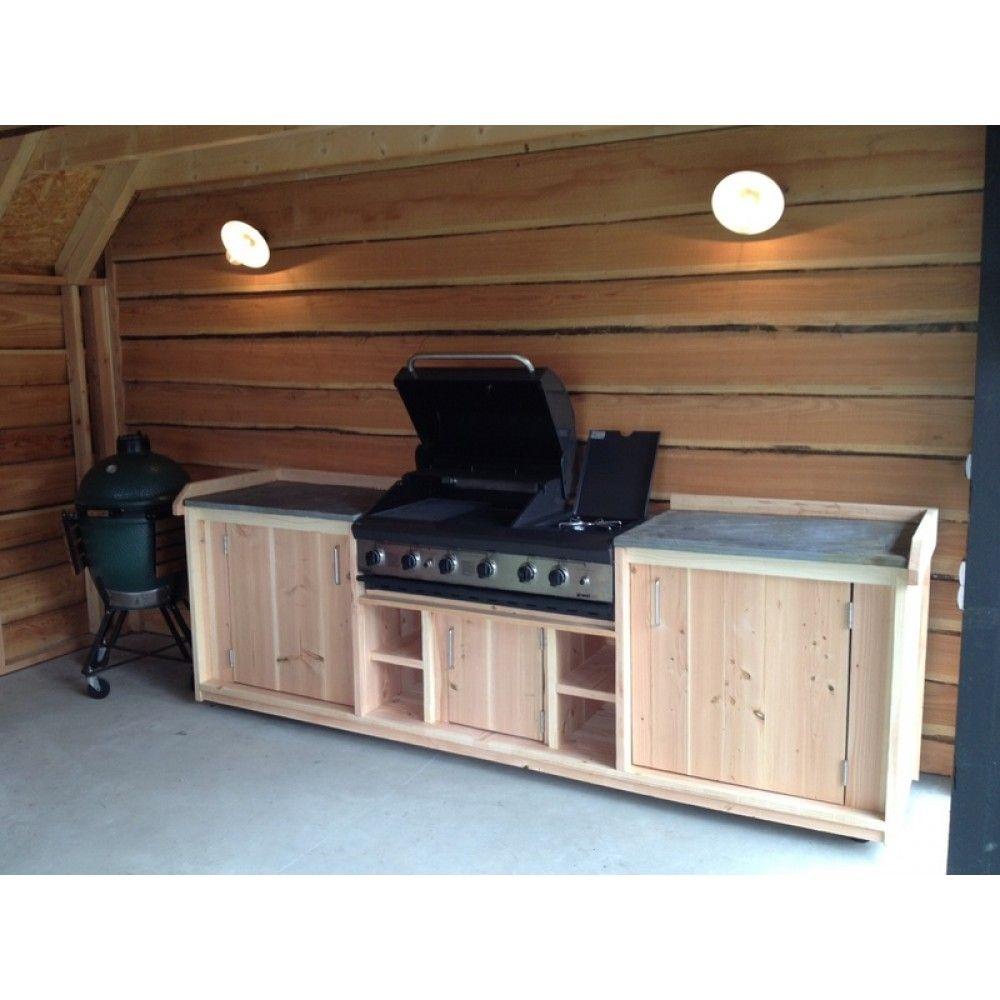 Buitenkeuken betonrvs inbouw apparatuur Keuken voor buiten