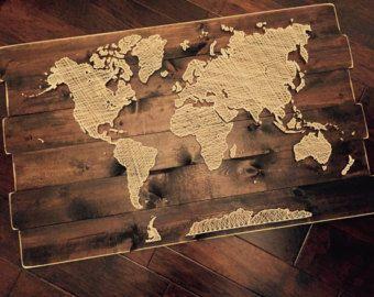String art world map decoracin string art world map gumiabroncs Gallery