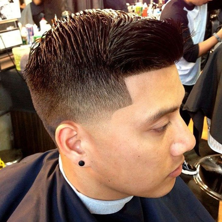 Image result for Cool taper with comb over: images