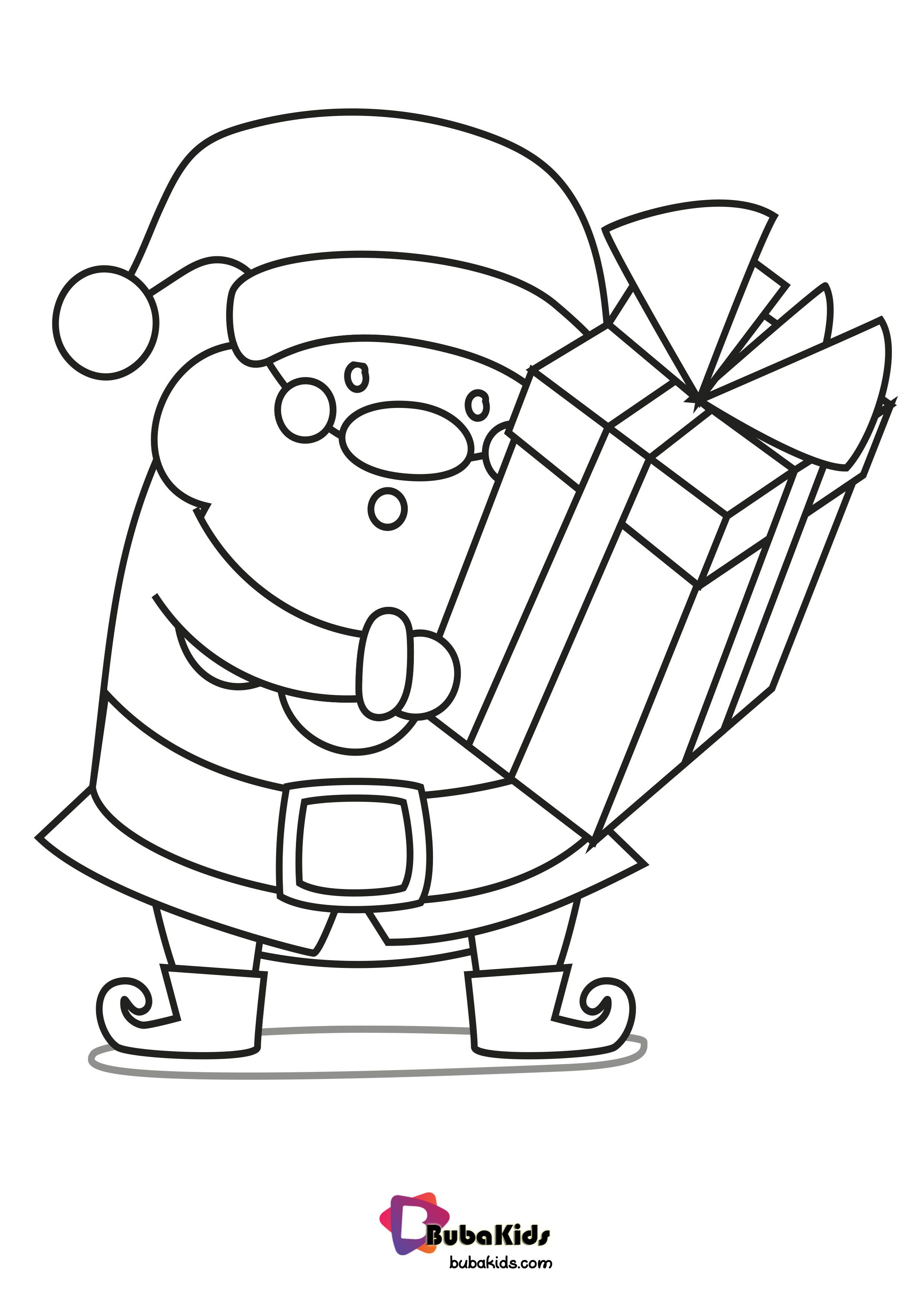 Santa Is Back With Gift Coloring Page Collection Of Cartoon Coloring Pages For Teenage Printable Coloring Pages Cartoon Coloring Pages Printable Coloring Book