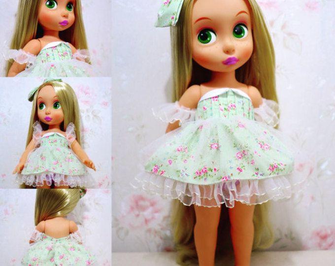 Vestido de princesa de la flor (cielo azul)/ropa de muñeca