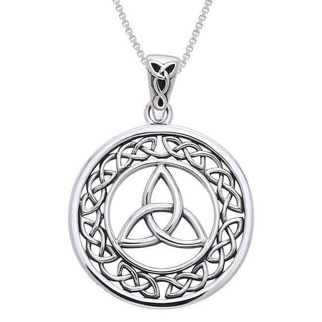 Carolina Glamour Collection Sterling Silver Celtic Border Trinity